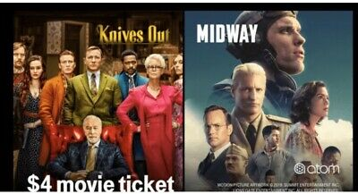BOGO (2) $4 Atom Movie Midway or Knives Out + IMAX, DOLBY, RPX + thru 11/18