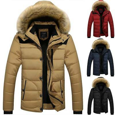 Mens Padded Bubble Hoody Coats Winter Hoodie Puffer Quilted Jacket Outwear M-5XL