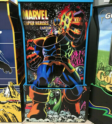 Arcade1up Cabinet Riser Graphics - Marvel Super Heroes THANOS Sticker Decal Set