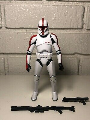 Star Wars The Black Series #13 RED CLONE TROOPER CAPTAIN Complete Mint