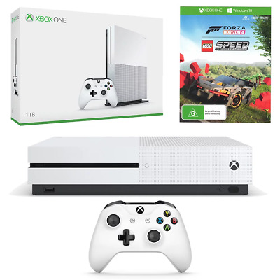 Xbox One S 1TB Console + Forza Horizon 4 & LEGO Speed Champions DLC Bundle NEW