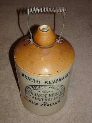 Antique Collectable SHARPE BROS STONEWARE DEMIJOHN JAR