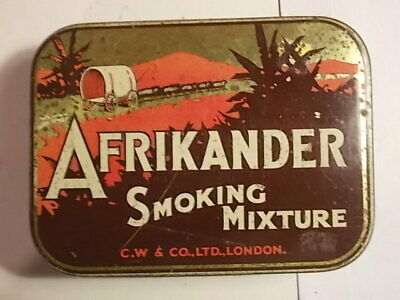 Old AFRIKANDER  Tobacco Picture Tin. G