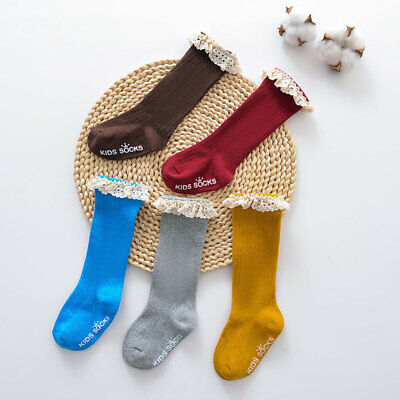 Baby Girls Boys Knee High Socks Toddler Warm Cotton Stockings