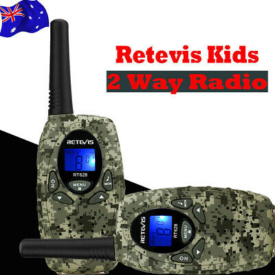 2XRetevis RT628 Kids Walkie Talkie VOX 8CH Two-Way Radio for Child Xmas Gift Red