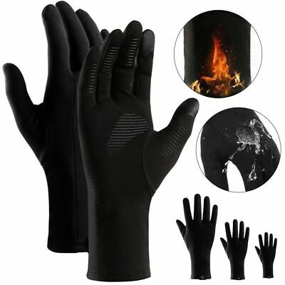 Winter Warm Liner Windproof Anti-slip Thermal Touch Screen Bike Ski Work Gloves