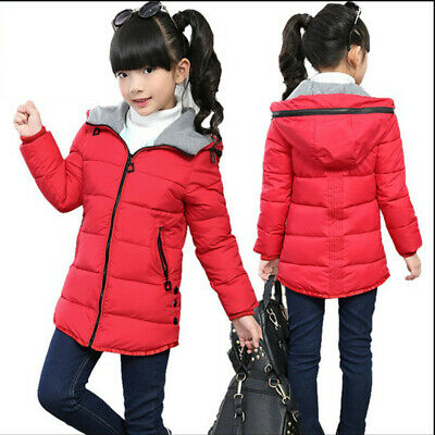 Thicken Parkas Down Cotton Padded Girls Outerwear Jacket Hooded Children Coat