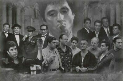 Mafia Entertainment Collage Poster 24x36 TV-Movie-Gangster