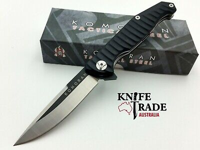 Komoran KO024 Folding Pocket Knife Flipper Deployment G10 Handle 8Cr13MoV EDC
