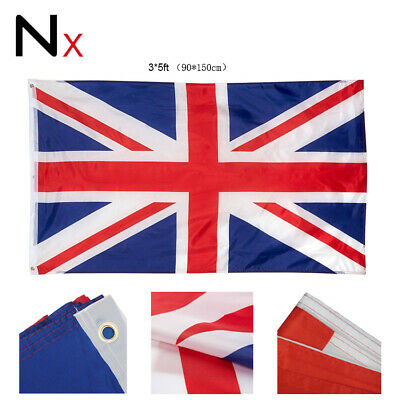 5 x 3FT Large Union Jack Flag Great Britain Fabric Polyester GB Sport UK New