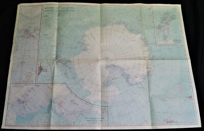 National Geographic Society Map Of Antarctica Antarctic Regions 1932 Vintage