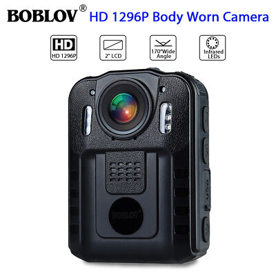 "Boblov 1296P FHD Police Body Camera 2"" LCD Action Cam Video Camcorder Waterproof"