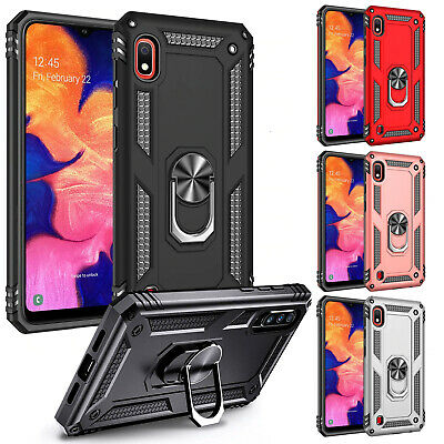 Armor Shockproof Cover Silicone Metal Ring Case For Samsung Galaxy A10 A20e S10