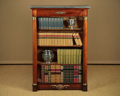 Antique Tall Empire Style Open Bookshelves c.1840.