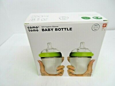 Como Tomo Soft Hygienic 8 fl oz BPA Free Silicone Baby Bottle Pack of 2