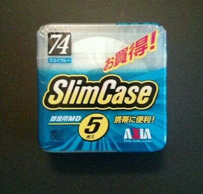 Axia MD SlimCase 74 Minidisc - 5 Pack - New Sealed !!!!!!