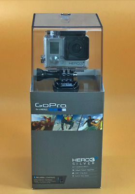 GoPro Hero3+ Silver Edition Camera Camcorder Bundle GoPro Battery & Charger New