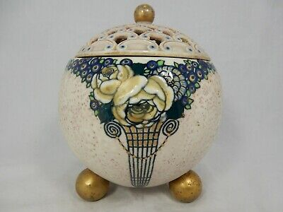 Beautiful Ernst Wahliss Art Nouveau Alexandra Porcelain Works potpourri Austria