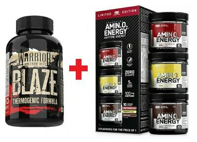 BLAZE Fat Burners T5 Weight Loss Diet + ON AMINO ENERGY Pre-Workout Powder Shake
