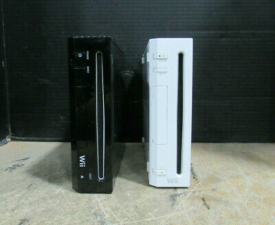 Lot of 2 Nintendo Wii Video Game Consoles Model RVL-001 & RVL-101 NO ACCESSORIES