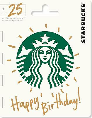 Starbucks Gift Card $25 $50 $100 - Fast Physical Delivery!