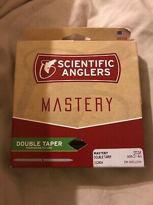 NEW SCIENTIFIC ANGLERS MASTERY DT-4-F DOUBLE TAPER #4 WT FLY LINE IN DARK WILLOW