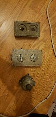 vintage light switch's taking from an old building