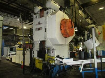 1,300 Ton Manzoni Forging Press W Ajax Tocco Induction Billet Heater Automation