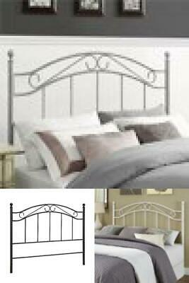 Mainstays Full/Queen Metal Headboard Traditional Style Black White Gray Bronze