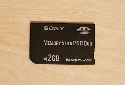 Official SanDisk Black Memory Stick PRO Duo 2GB Magic Gate Genuine Card SONY PSP
