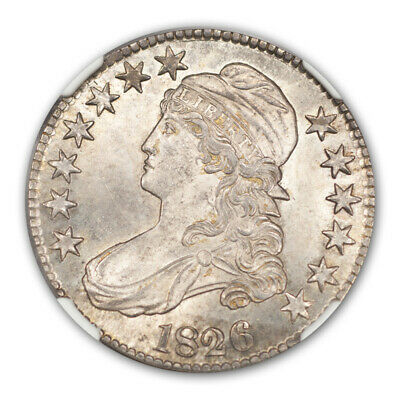 1826 Capped Bust, Lettered Edge 50C NGC MS65