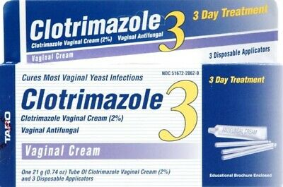 Clotrimazole 3-day Vaginal Antifungal Cream 2% | 0.74oz Tube