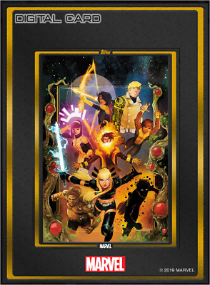 2019 COMIC BOOK DAY NOV 6 GOLD NEW MUTANTS #1 Topps Marvel Collect Digital
