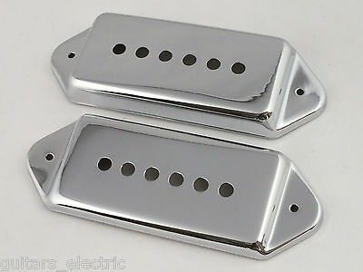 SET OF KENT ARMSTRONG CASINO DOGEAR P90 WPUCF WPUCR CHROME FRONT /& REAR PICKUPS