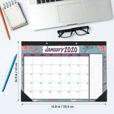 2020 to 2021 Paper Desk Calendars Desktop Kraft Schedule Planner for Home Office