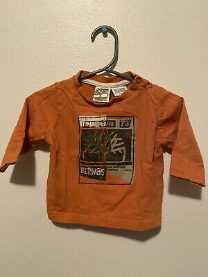 Timberland Baby Boys Long Sleeve Est 1973 Top sizes 6 months 9 months Colour Red