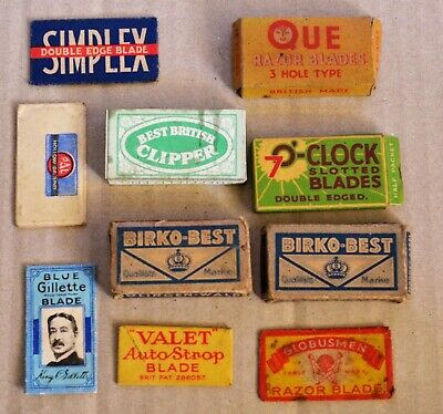 Lot Of Old Razor Blades Packets Etc