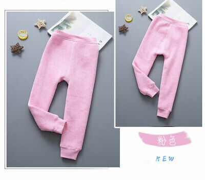 Kids Leggings Fleece Lined Pants Girls Warm Thick Cotton Stretch Thermal Trouse