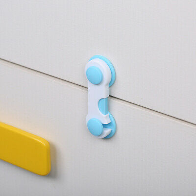 Blue Child Baby Safety Locks Box Drawer Cupboard Cabinet Wardrobe Door Fridge