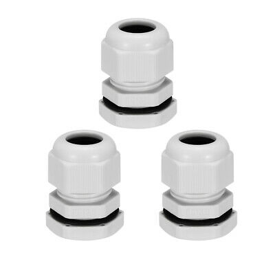 uxcell Stainless Steel 8.0-12.0mm PG13.5 Waterproof Cable Gland Connector