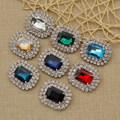 1Pc Women Crystal Rhinestone Shoes Clip Wedding Boots Buckle Charms Accessories