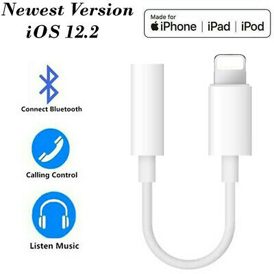 Lightning to 3.5mm AUX Headphone Jack Audio Cable Adapter For Phone X 8 7 + XS