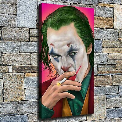 """12""""x22"""" Smoking clown photo HD Canvas print Home Decor Wall art painting Picture"""