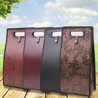 Leather Double Wine Bottle Bag Champagne Tote Carrier Bags Travel Christmas Gift