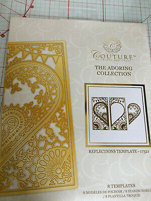 Couture by Create & Craft Adoring reflections template dies