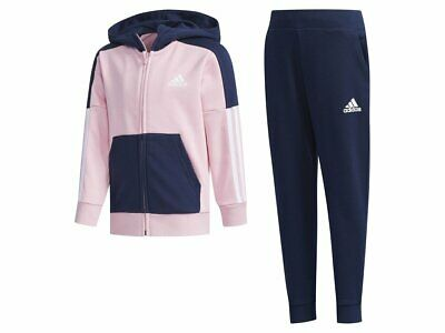 girls adidas tracksuit essentials hooded fitted hoodie joggers