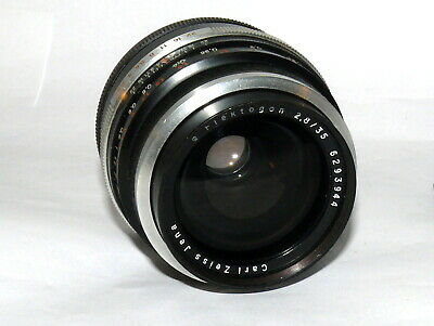 Carl Zeiss Jena Flektogon Q1 2.8/35mm Objektiv M42 Canon FD Mount Adapter 15437