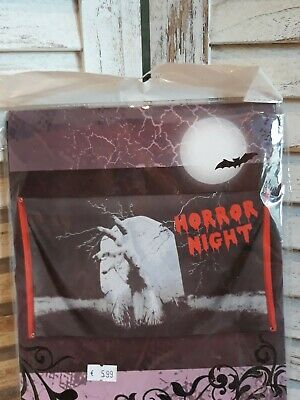 Halloween Banner Deko Flagge Fahne Horror Grusel Requisite Film Motto Party NEU!