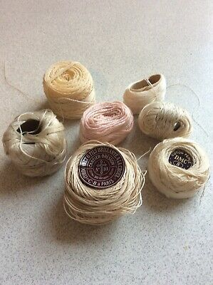 Vintage Assorted DCM Cartier-Bresson Crochet Embroidery Cotton Lace Tatting