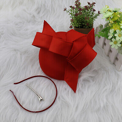 Elegant Headband Vintage Light Weight and Flower Headwear with Red Plastic